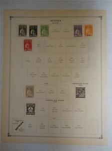 Vintage Guinea Postage Stamps 1914-1925 On Page Lot of 7