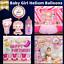 miniature 4 - 4pcs Girl foil ballon hélium pour nouveau-né baby shower baptême fête d'anniversaire
