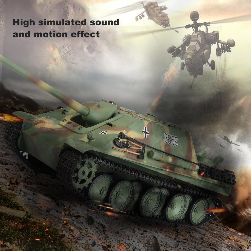 Tanque RC Heng Largo 3869-1 1 16 edición Alemán Versión actualizada RTR Sonido T