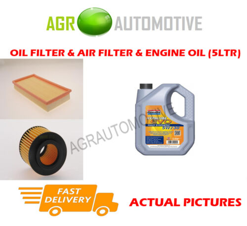 PETROL OIL AIR FILTER KIT + LL 5W30 OIL FOR VOLKSWAGEN POLO 1.2 64 BHP 2001-07