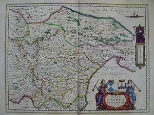 Mappa Puglia E Basilicata.Mappa Terra Di Bari E Basilicata 1640 Puglia Trani Potenza Putignano Molfetta Ebay