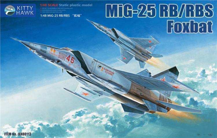 Kitty Hawk KH8013  48 MIG -25RB  RBS Foxbat FRI hkonsts FIGURES INKLUSIVE