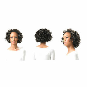 dc5f7a6d270 Ladies Women's Half Wig Clip In Hair Piece Short Curly Xpression ...