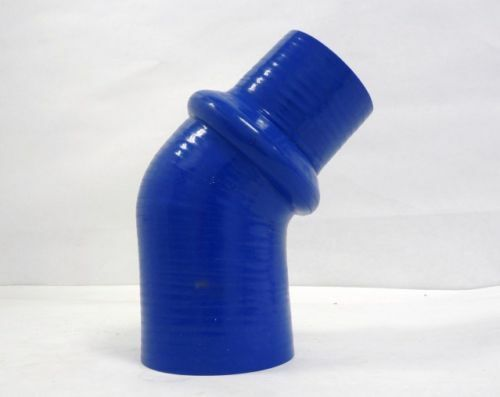 """4/"""" Blue OBX 45 Degree Silicone Hump Reducer Elbow 3/"""""""