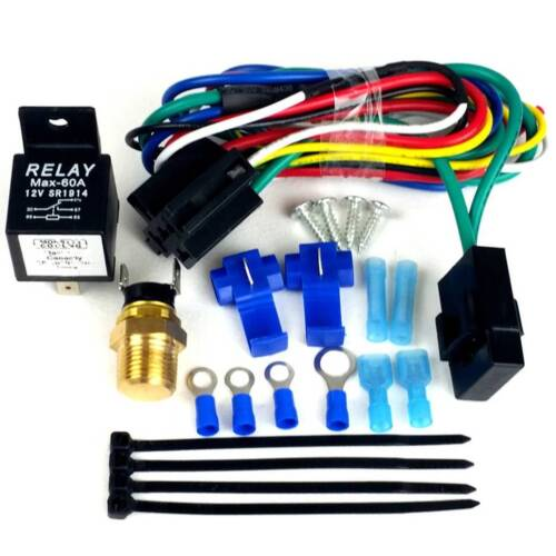 Works on Single or Dual Fans Chevy Bel Air Fan Relay Wiring Kit Temperature Co