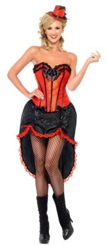 M Carnevale Travestimento Vestito Charlestone 42336M COSTUME BURLESQUE ROSSO TG