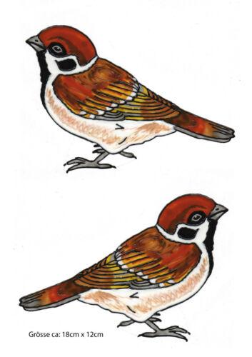Fensterbild Window Color Bild Fenstersticker Vogel 2 Spatzen im Set 321