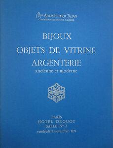 1974-CATALOGUE-illustre-VENTE-DROUOT-BIJOUX-OBJETS-DE-VITRINE-ARGENTERIE