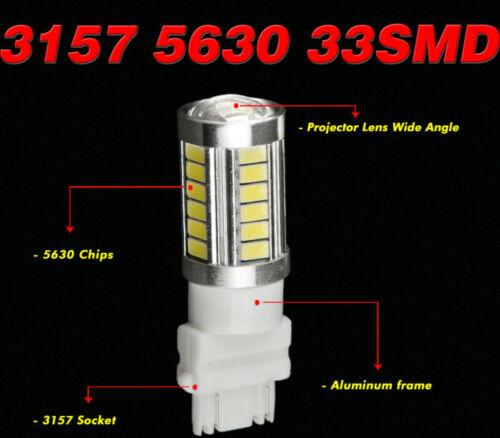 2X White 3157 3457 3057 Signal 33SMD Backup Reverse Tail Turn LED Light Bulb