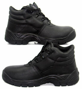 Mens-Work-Ankle-Boots-Leather-Breathable-Work-Steel-Toe-Shoes-Lace-Up-Big-Size
