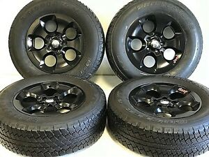 18-034-JEEP-WRANGLER-RUBICON-SET-4-SATIN-BLACK-OEM-FACTORY-WHEELS-amp-TIRE-OFFROAD-9113