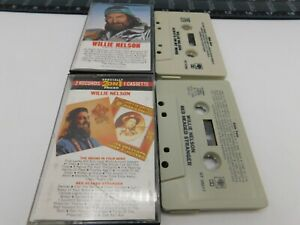 Lot-of-2-Willie-Nelson-Cassettes-Always-on-my-Mind-Red-Headed-Mind-Audio-Tape