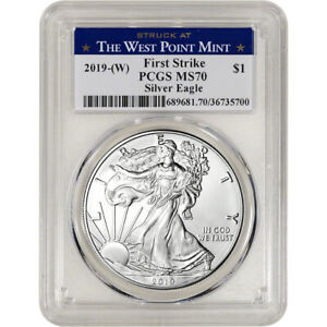 American Silver Eagle First Strike PCGS MS-70 West Point Label 2014- 164818 W