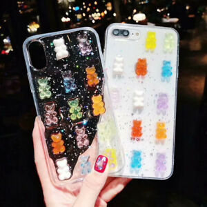 Cute-3D-Candy-Bear-Crystal-Glitter-Phone-Case-Cover-For-iPhone-XR-XS-Max-7P-Sam