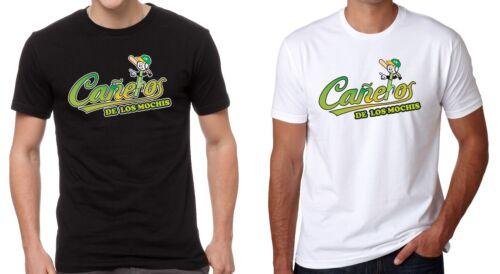 Caneros de los Mochis Men/'s T-shirt Crew Neck 100/% Cotton S-2XL Black//White