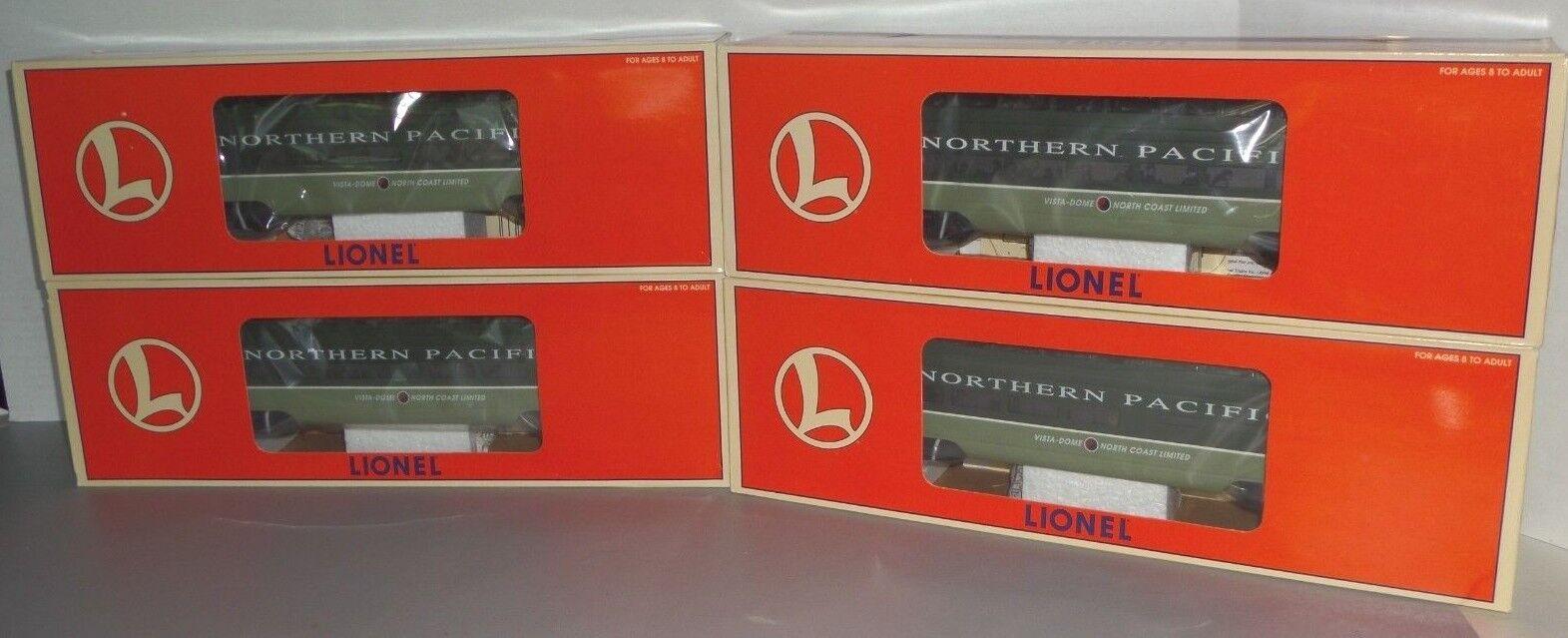 Lionel O  6-19167 a  6-19170 Conjunto De Coche pasajeros de aluminio Pacífico del norte-Nuevo En Caja
