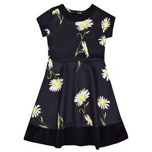 f5b0cf91113 filles robe patineuse enfants Marguerite imprimé floral été robes de ...