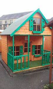 Details About Childrens 8x8 Grand Chateau 3 Storey Wooden Playhouse Outdoor Tg Den 8ft X 8ft