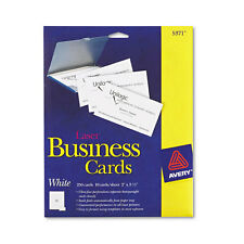 Avery Laser 2 X 3 1 Inch White Business Cards 250 Count 5371