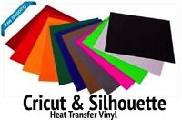 Cricut & Silhouette Heat Transfer 12-color Starter Bundle Of 12x15 Sheets