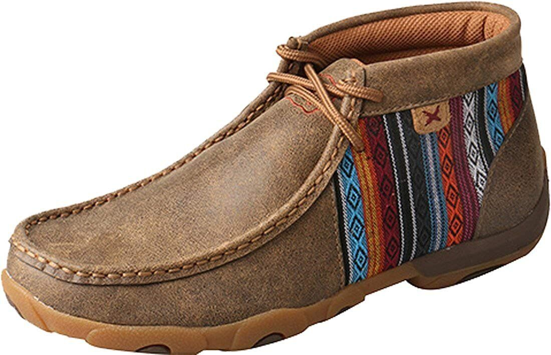 edizione limitata Twisted X Donna  Leather Lace-up Lace-up Lace-up Rubber Sole Driving Moccasins Serape  colorways incredibili