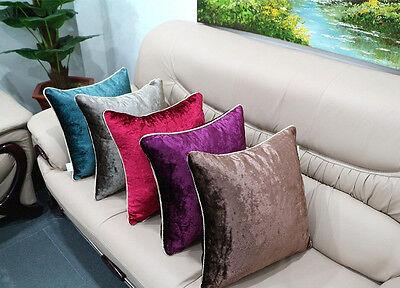 Colorful Throw Pillow Case Velvet Decorative Cushion Cover Sham 8 colors 5 sizes