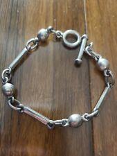 21.9 grams Sterling Silver Textured Chain Link Bracelet 7 14