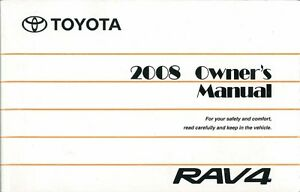 2008 toyota rav4 owners manual user guide reference operator book ebay rh ebay com 2008 toyota rav4 owners manual pdf free download 2008 toyota rav4 service manual pdf