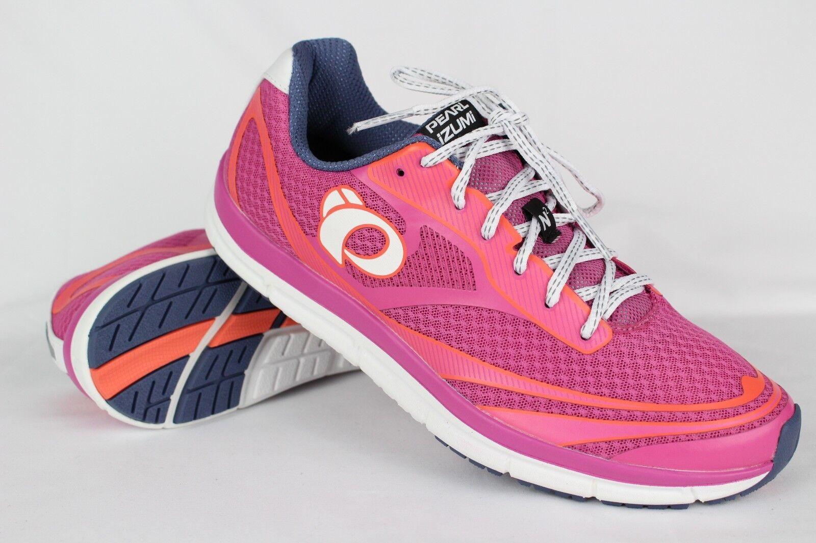 New Pearl Izumi Women's Road N2 V3 Road Running Training Size 11 Ibis Rose/White
