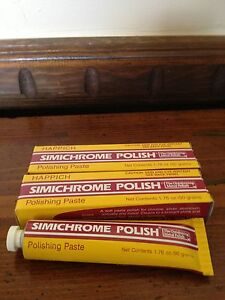 3 Tubes of SIMICHROME POLISH 1.76 ounce Bakelite Test,Metals,Car.Brass,Chrome
