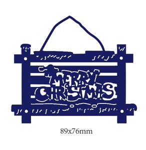 Stanzschablone Anhänger Weihnachten Geburstag Album Karte Haus Fenster Deko DIY