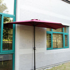 10Ft Half Round Umbrella Patio Bistro Wall Balcony Door Window Sun Shade