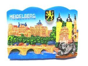 Heidelberg-Magnet-Bruecken-Neckar-Burg-Polyresin-Souvenir-Germany
