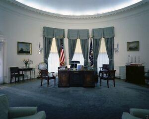 President John F. Kennedy Resolute Desk Oval Office 1961 New 8x10 Photo