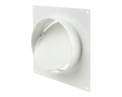 Rückschlagventil mit Platte PVC 150mm Wandflansch mit Rückstauklappe