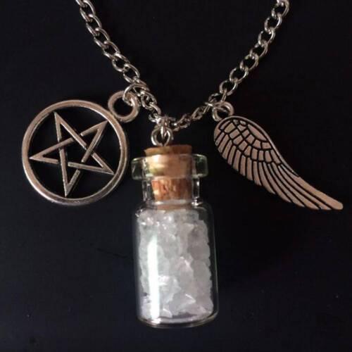 Women Necklace Chain Tone Supernatural Angel Salt Bottle Pendant Jewelry