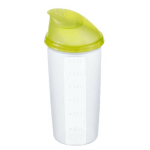 Rotho Shaker 600 ml Skala Schüttelbecher mit Mixrad Deckel mit Ausguss BPA-frei