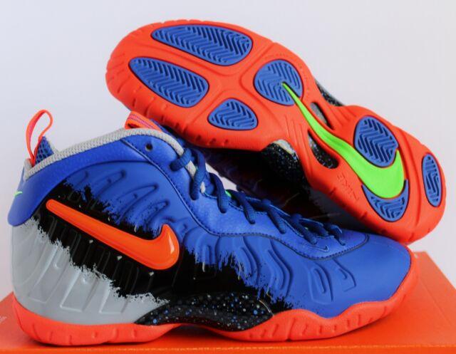 a1f7e2d0dbf0f Nike Little Posite Nerf Pro GS Racer Blue total Crimson Size 5.5y 644792-403