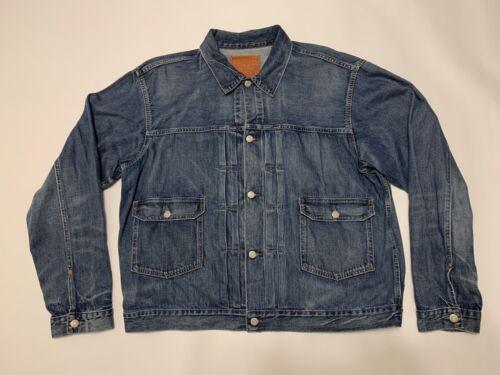 RRL Vintage Inspired Japanese Denim Jacket-Men-XXL