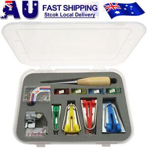 16pcs-Fusible-Bias-Binding-Tape-Maker-Sewing-Quilting-Awl-Binder-Foot-Tools-Kit