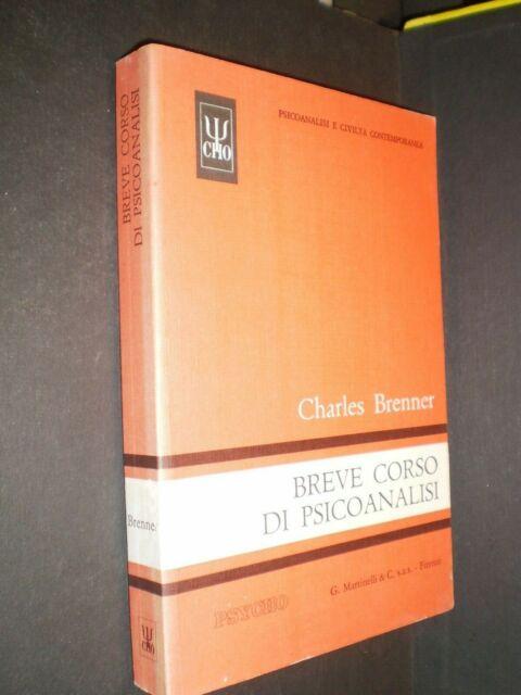 * LIBRO BREVE CORSO DI PSICOANALISI di CHARLES BRENNER ed. MARTINELLI 1990 raro