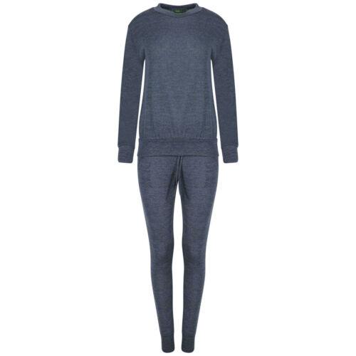New Ladies Lounge Wear  Women Sweatshirt Joggers Fine Knit Tracksuit Pants Set