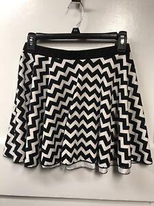 78d2742f46 Full Tilt by Tillys brand Black & White Striped Mini Skater Skirt ...