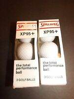 Spalding Golf Balls Lot Of 6 Xp95 The Total Performance Ball