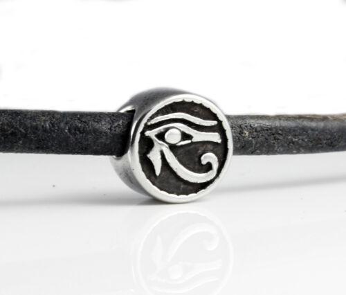 Edelstahl Schieber Auge des Horus Ø 4,5 mm 11,5 x 8 mm Armband herstellen R14