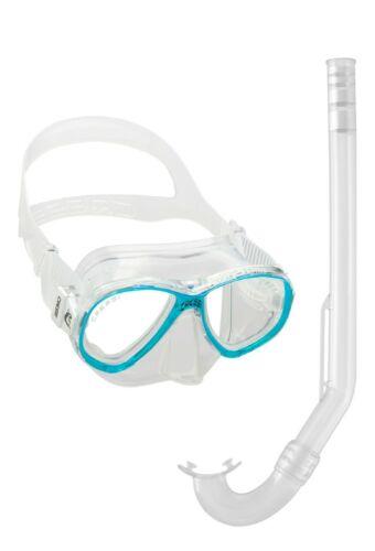 Cressi Perla Mare Junior Set Taucherbrille Schnorchel Kinder aquamarine