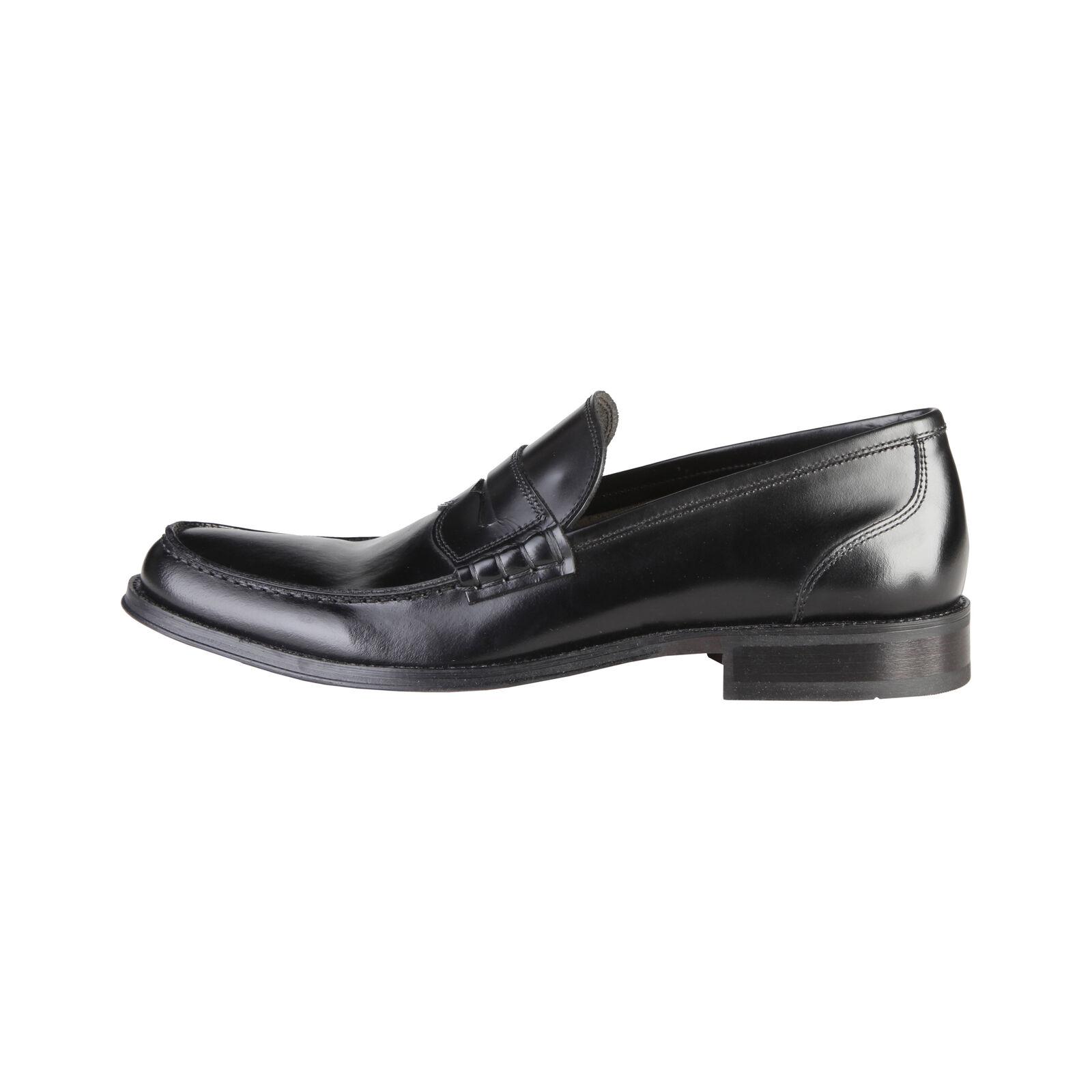 Made in Italia Herren Schuhe Klassische Mokassins Slipper Schwarz Leder