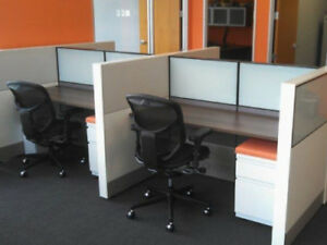 Used Office Cubicles Herman Miller Ethospace Cubicles 4x4 Ebay