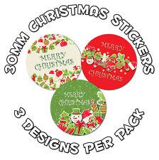 German Merry Christmas 48 x 30mm Stickers /'Fröhliche Weihnachten/' schools