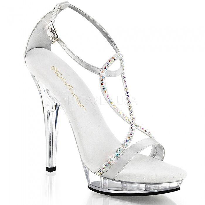Strass Sandalette silber silber silber Gr.38 US 8 Sandale Show Gala Abiball LIp-156 3385b8